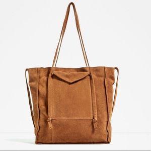 Zara suede handbag